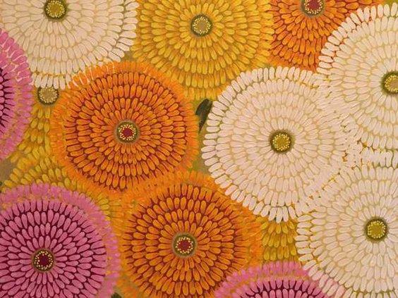 Crinklaw Mixed Zinnias acrylic on canvas