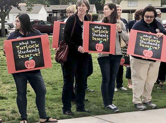 turlock teachers rally
