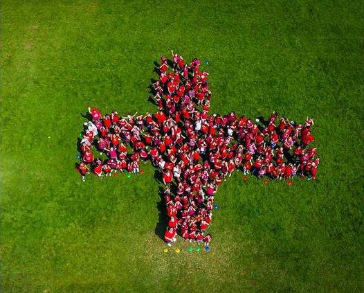 CLOVERLAND red cross