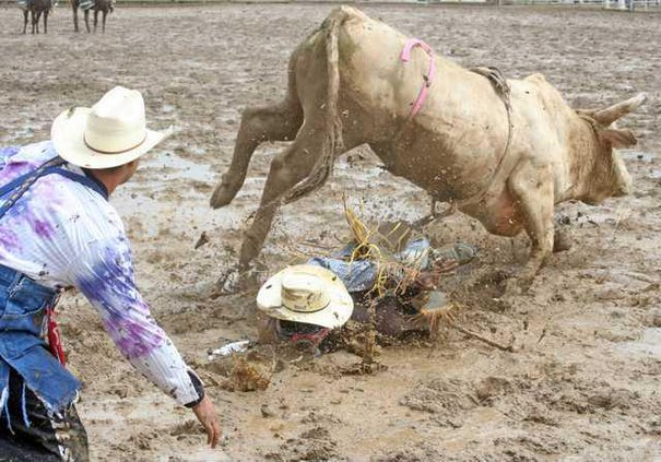 4-18 Rodeo spill