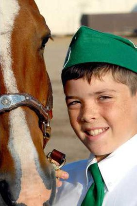 4-H boy with horse