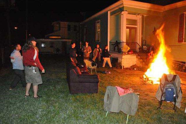 Friends bonfire mj