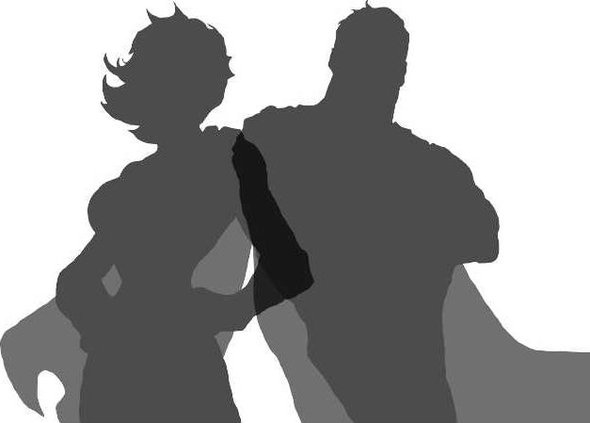 Placeholder couple superhero