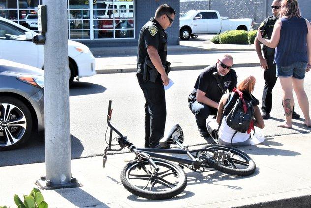 Biker-car collision