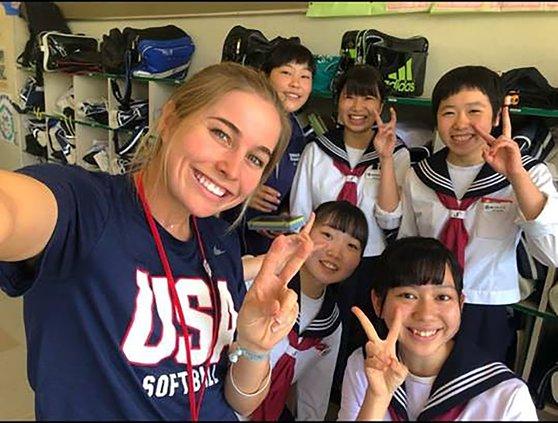 Nicole Bates in Japan
