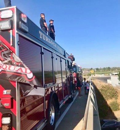 communities honor fallen firefighter