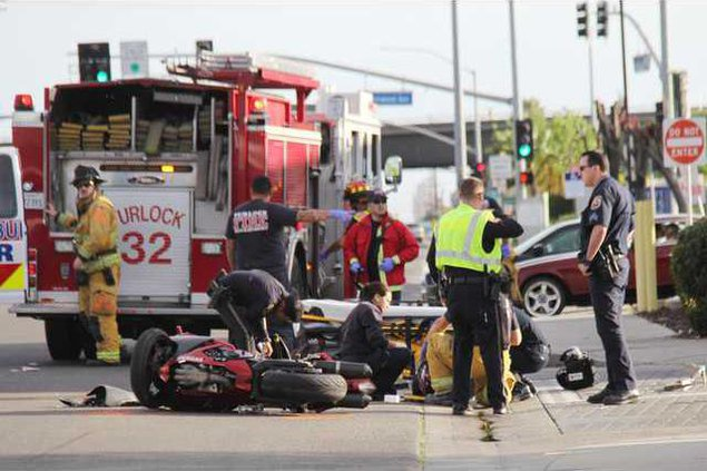 Lander motorcycle crash