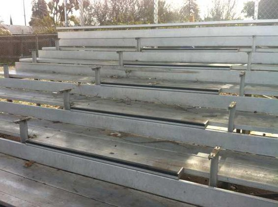 missing bleachers