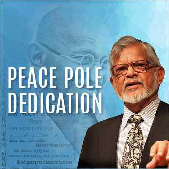 peace pole event graphic