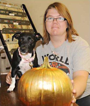 Pumpkin and Dog DSC 1033