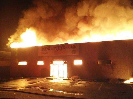 center appliance fire