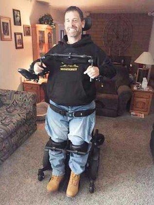 Denair business owner standing wheelchair pic
