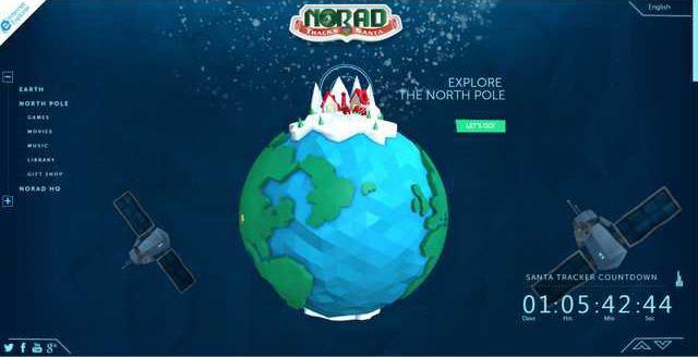 NORAD Santa tracker pic