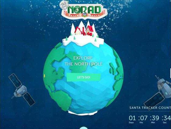 NORAD santa pic