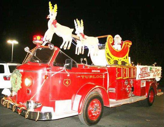 Santa fire truck