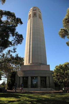 Coit Tower San Francisco south facing side