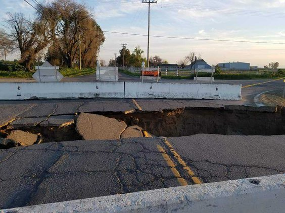 Harding road collapse
