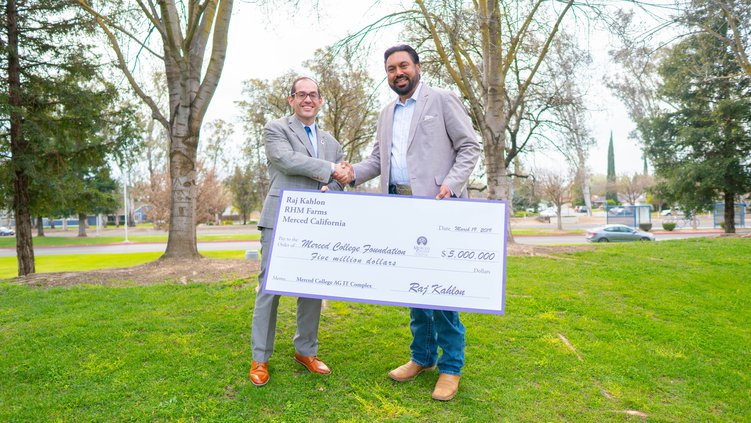 Merced College ag donation