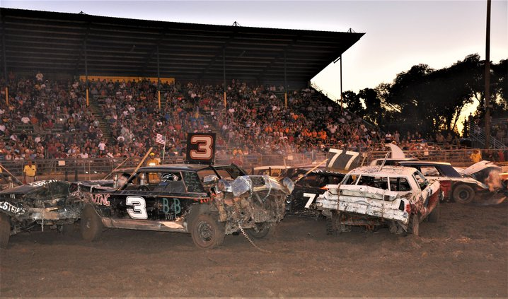 More Cars Action At Fair S Annual Demo Derby Turlock Journal