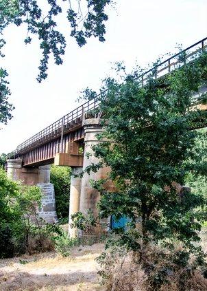Riverbank Train Trestle