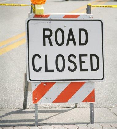 road close sign