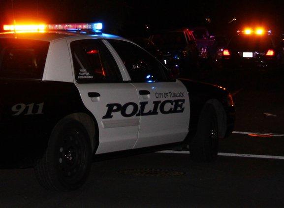 turlock patrol car night