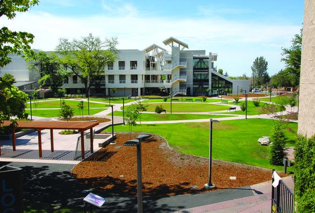 The Dolores Huerta Plaza at Delta College.