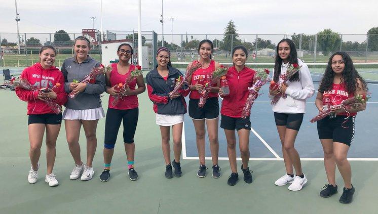 Ceres High varsity girls tennis team