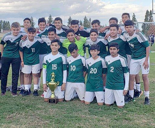 Central Valley's junior-varsity boys soccer team f