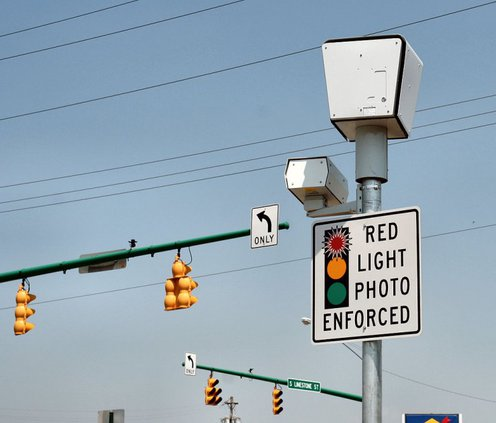 red lightn