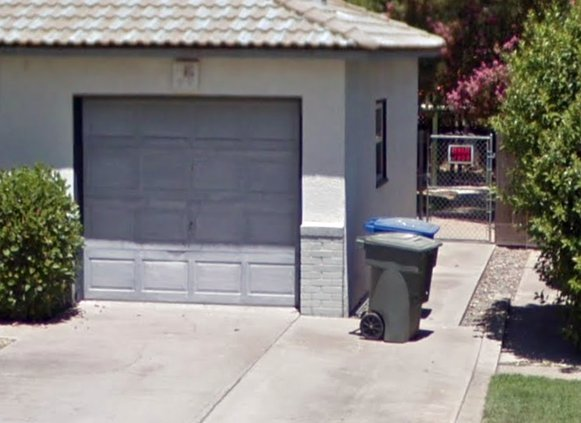Ceres garbage cans in view
