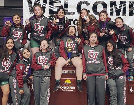 Central Valley varsity girls wrestling