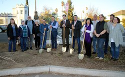 Plaza groundbreaking