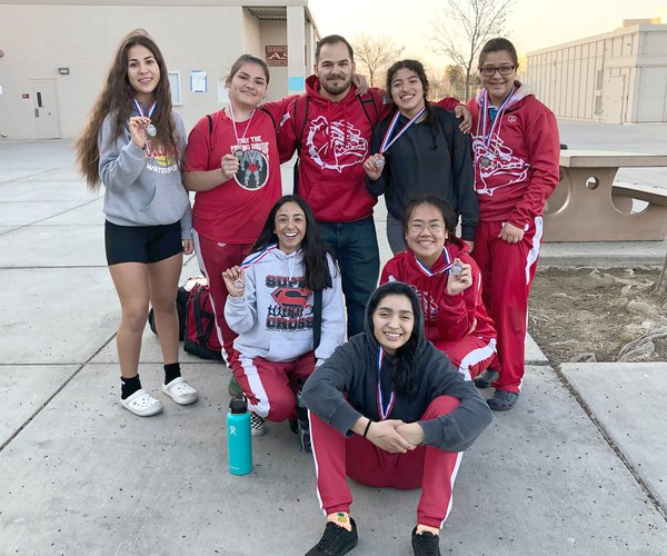 varsity girls wrestling team CHS