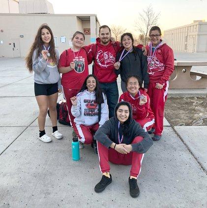 varsity girls wrestling team CHS