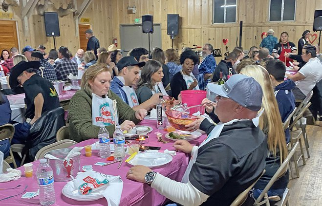 crab feed crowd