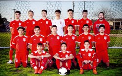 Ceres High's varsity boys soccer team