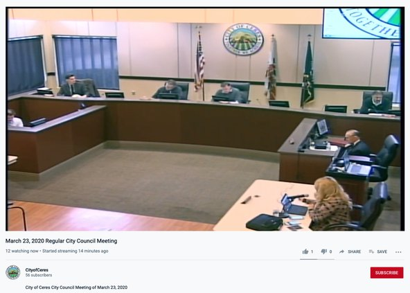 council livestreaming