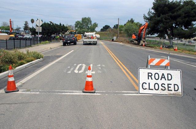 El Camino Avenue road work