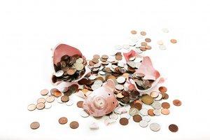 piggy bank broke