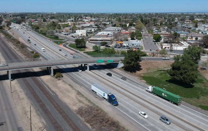 downtown Ceres freeway