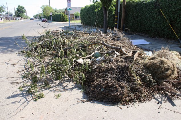 debris dumped