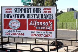 downtown restaurant sign