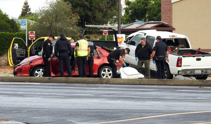 Hatch Road crash cleanup