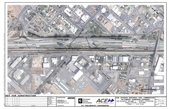 ACE train station map Ceres