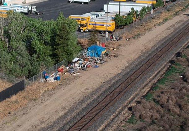 homeless on tracks
