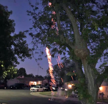illegal fireworks in ceres