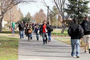CSUS students walking