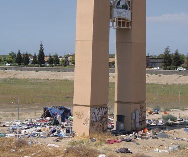 homeless litter