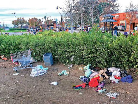 homeless mess